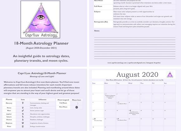 18-Month General Astrology Calendar & Planner
