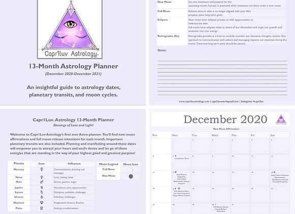 12-Month General Astrology Calendar & Planner