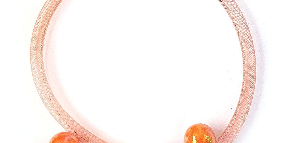 Чокер из сетки Рыжая россыпь тонкий