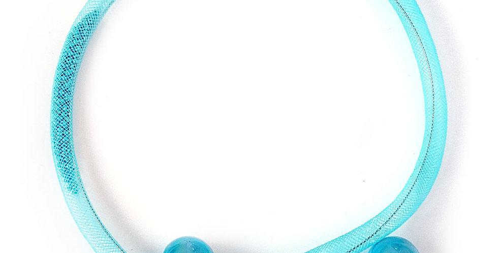 Чокер из сетки Бирюзовая россыпь тонкий