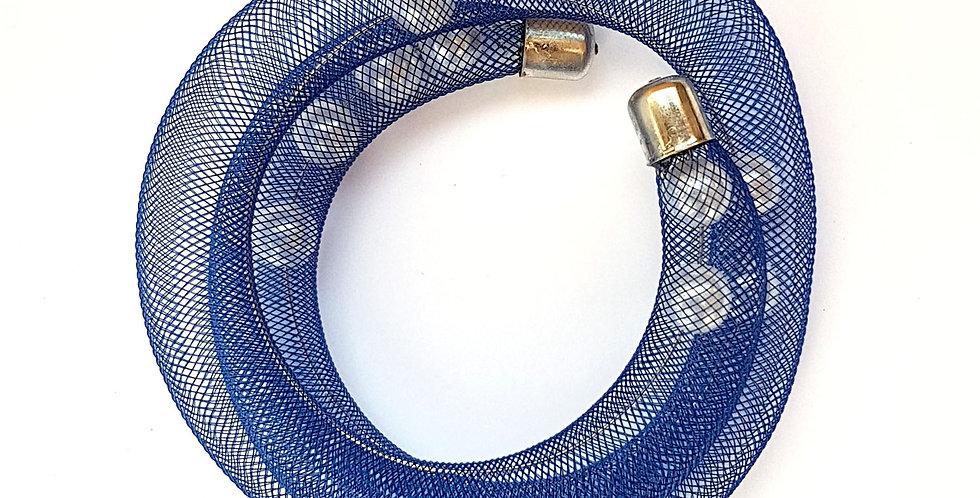 Браслет Удачный улов сине-белый