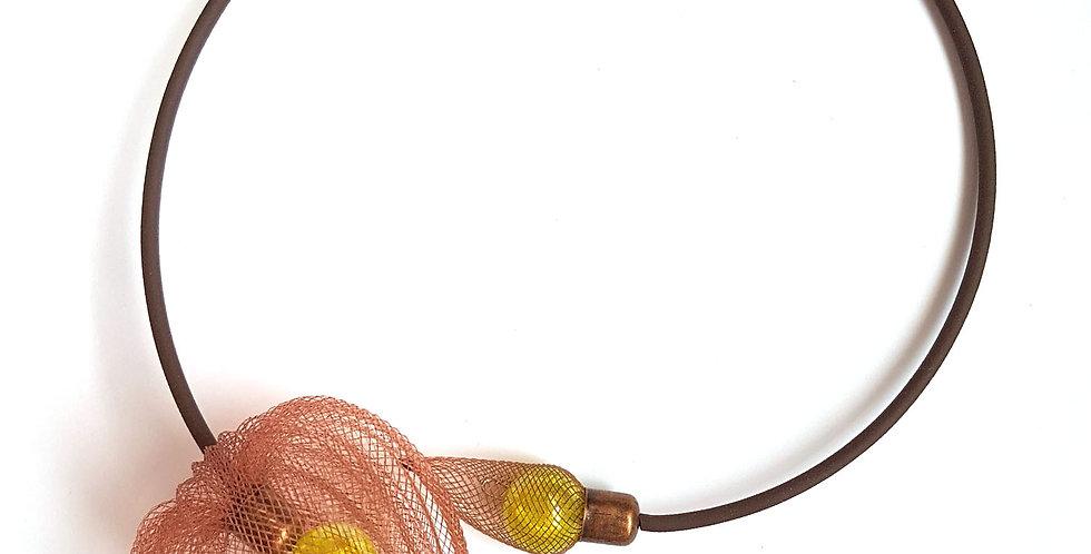 Чокер из сетки Фезалис коричневый