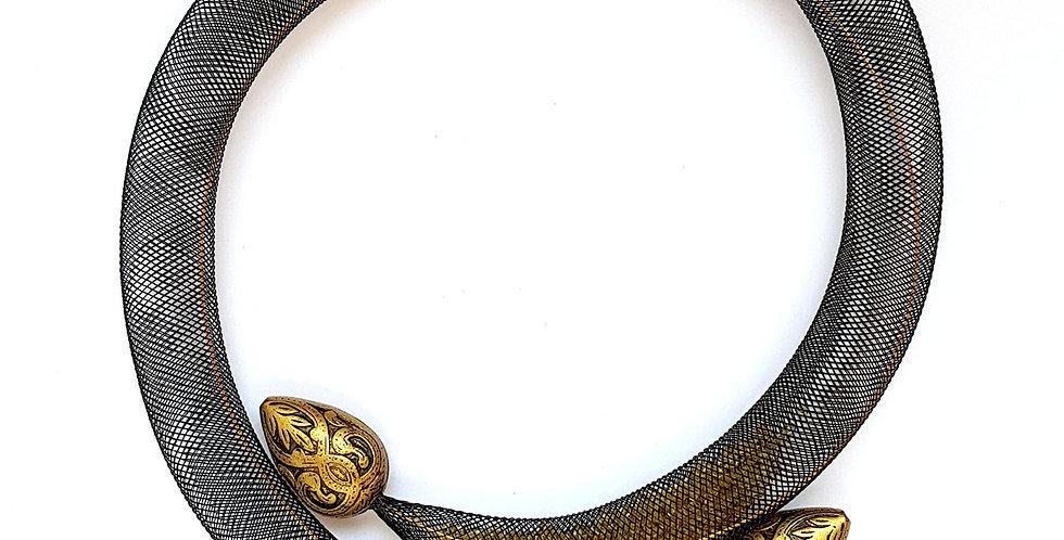 Чокер из сетки Восточная россыпь бронзовый