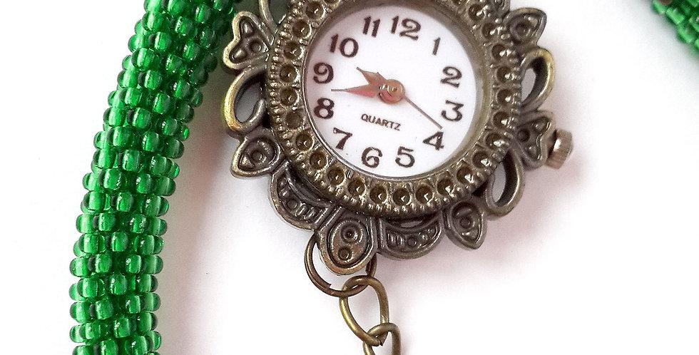 Часы-трансформер зеленые