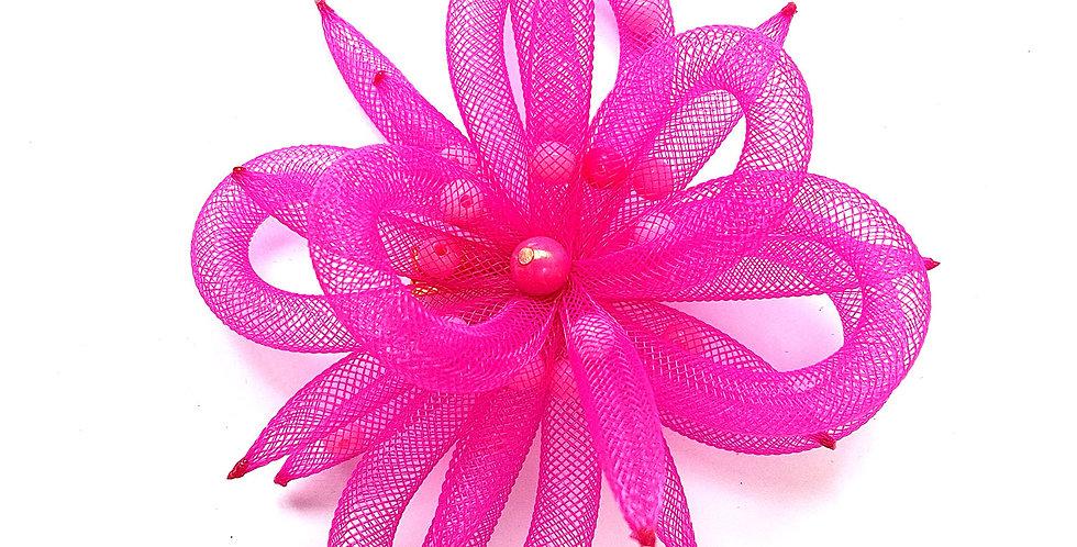 Зажим Розовый цветок