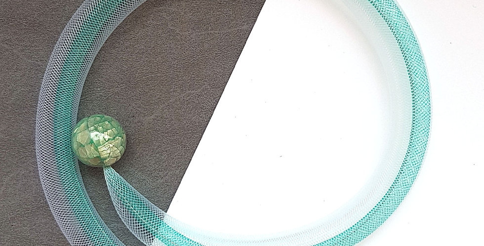 Чокер из сетки Изумрудный перламутр