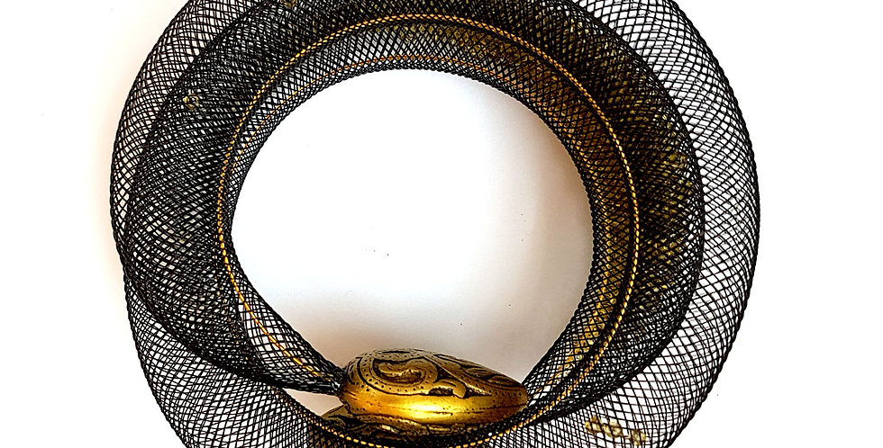Браслет из сетки Восточная россыпь бронзовый