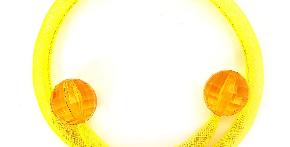 Чокер из сетки Желтая россыпь тонкий
