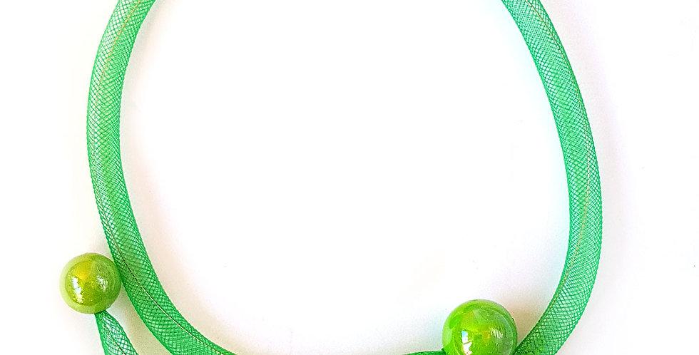 Чокер из сетки Фисташковая россыпь тонкий