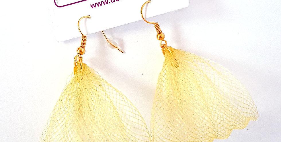 Серьги из сетки Лилия золотистые