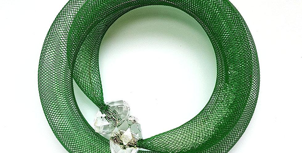 Браслет из сетки Зеленая россыпь