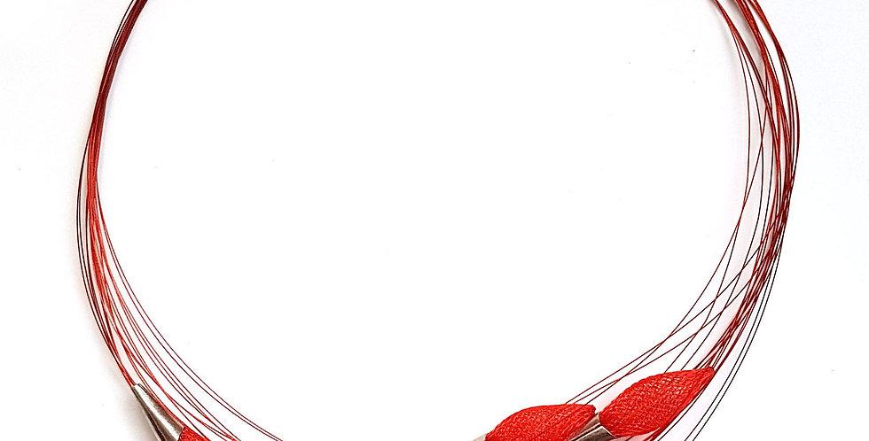 Ожерелье из сетки Орбиты красный