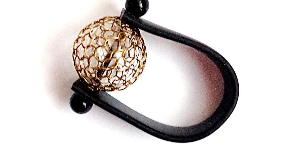 Кольцо Новолуние латунь