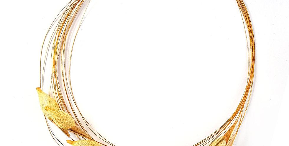 Ожерелье из сетки Орбиты золотистый