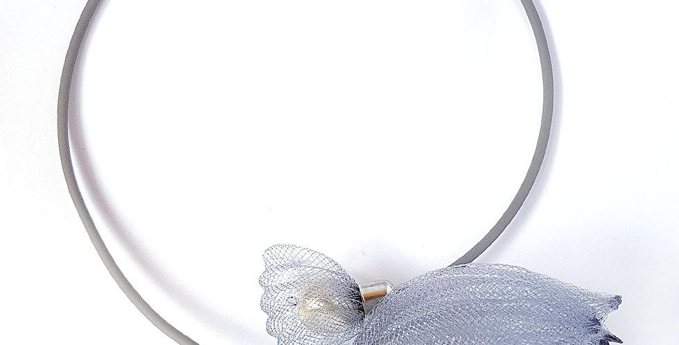 Чокер из сетки Лилия серый