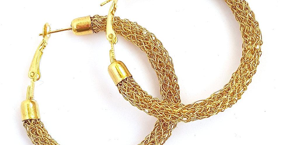 Серьги-кольца из проволоки Классика 4 под золото