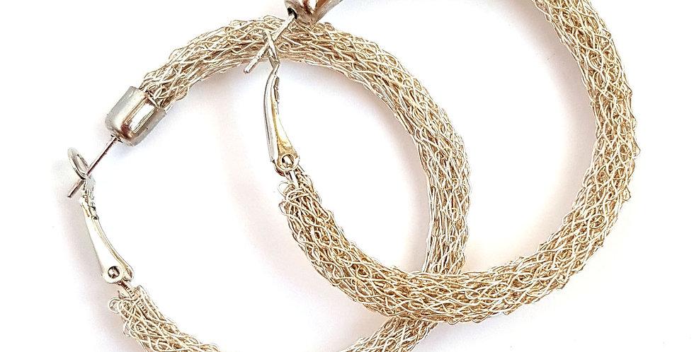 Серьги-кольца из проволоки Классика 4 под серебро