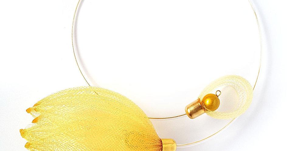 Чокер из сетки Лилия золотистый