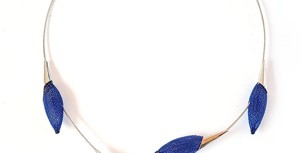 Чокер из сетки Лоза синий серебро