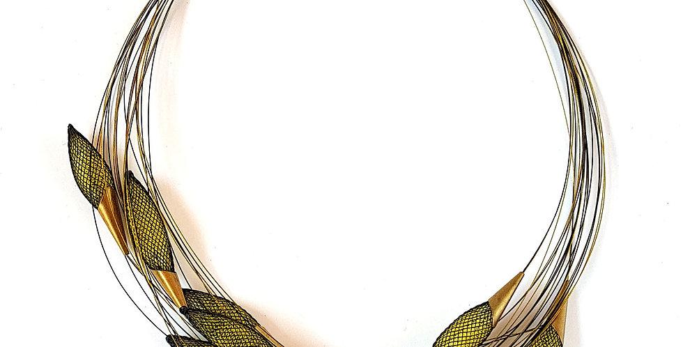 Ожерелье из сетки Орбиты черно-желтый