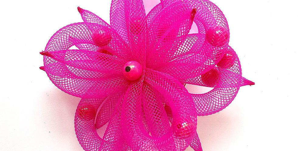 Зажим Розовый цветок2