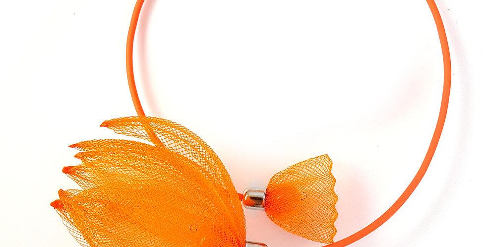 Чокер из сетки Лилия оранжевый