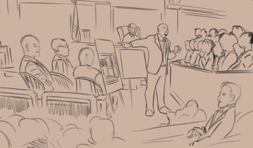 Johnathon Hardaway trial sketch