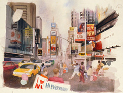 Time Square Watercolors