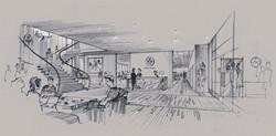 Tory Burc office reception area