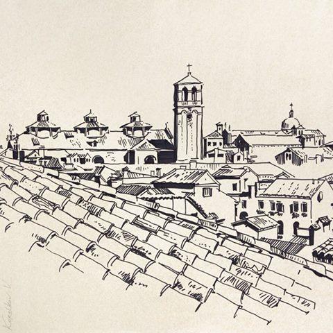 Sityscape sketch, Venice