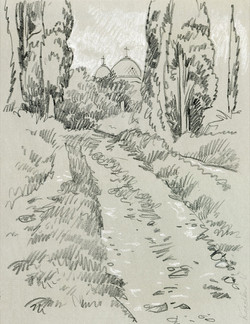 Landscape sketch, New Athon