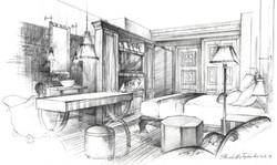 Architectural pencil, hotel room