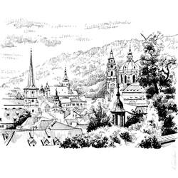 Sityscape sketch, Prague