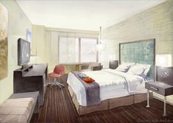 Westin Hotel, model room, New York