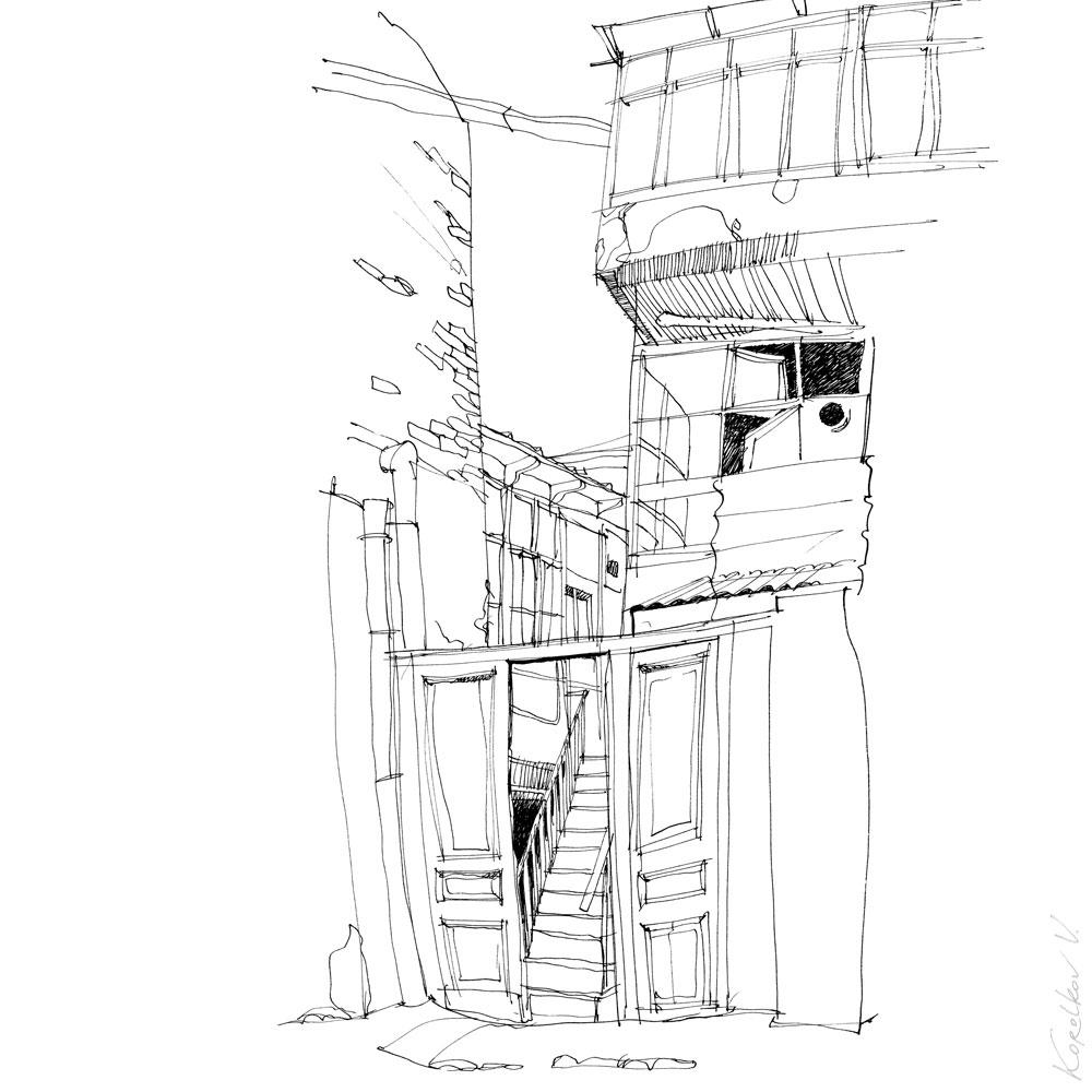 Sityscape sketch, Tbilisi, Georgia