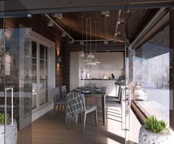 One family house dininr room