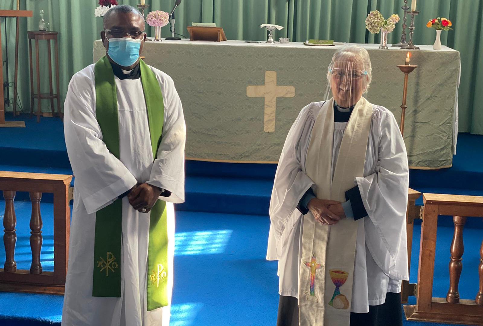 Revd Chika Nduku and Revd Christine Harding in St Elisabeth's church