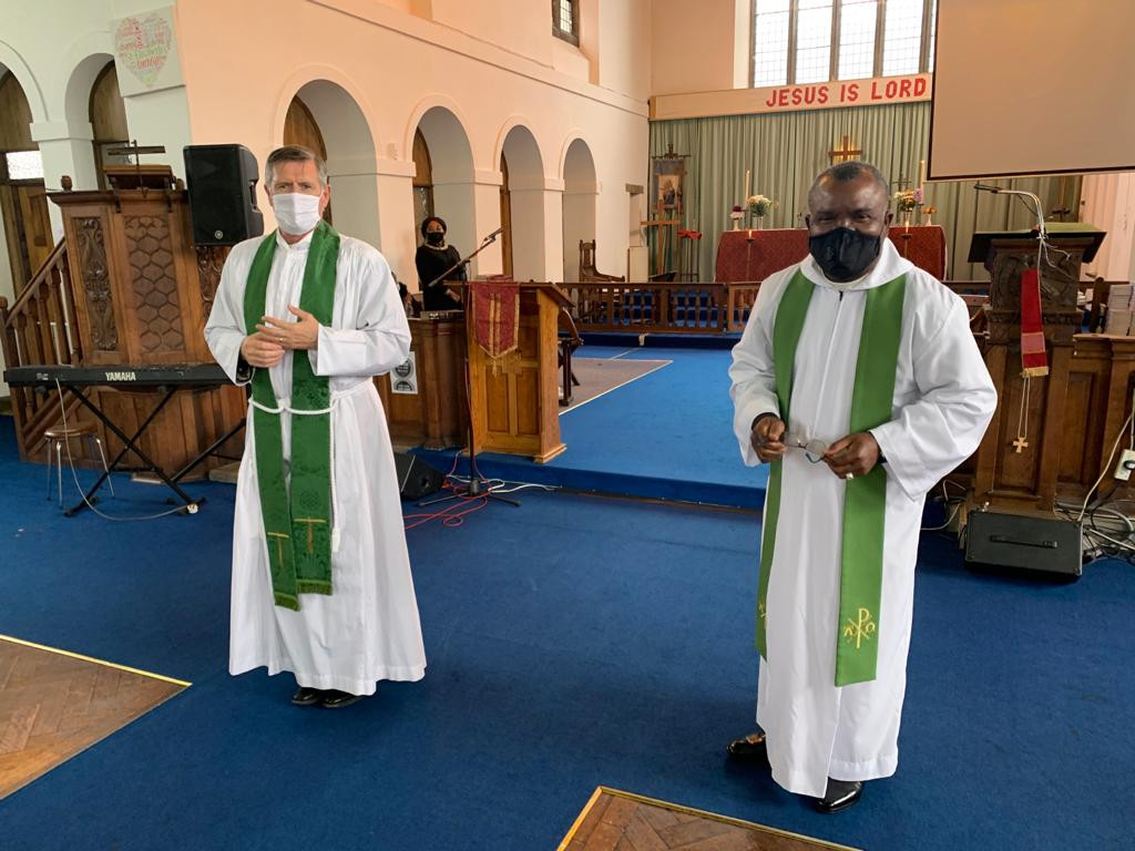 Archdeacon Chris Burke and Revd Chika Nduku in St Elisabeth's church