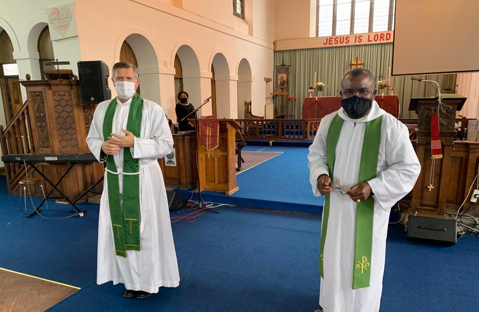 Archdeacon Chris Burke and Revd Chika Nduku in St Elisabeth's church
