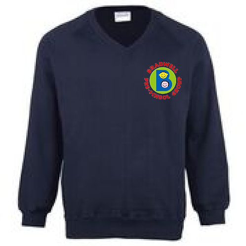 V-Neck Sweatshirt Bradwell Pre School