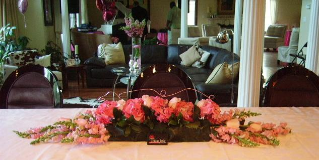 Buffet Table Arrangement