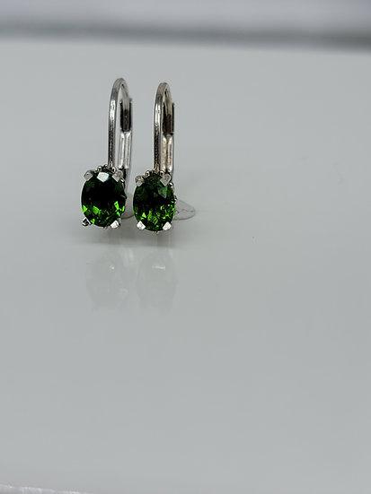 Diopside earrings
