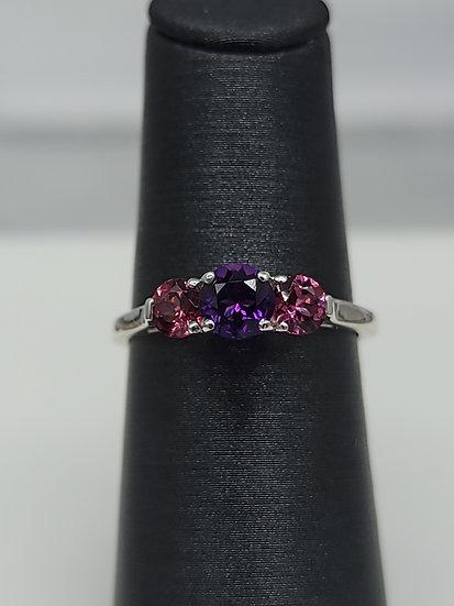Amethyst & Garnet Ring