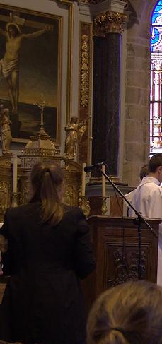 obsèques à l'église