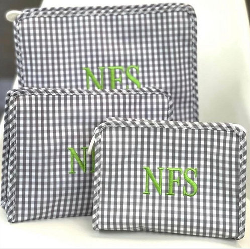 Gingham Travel Pouch (Large): Designed by Anna Rahmanan