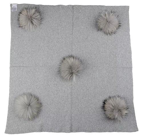 Pom Pom Stroller Blanket: Designed by Natasha Ebrani Eshaghian