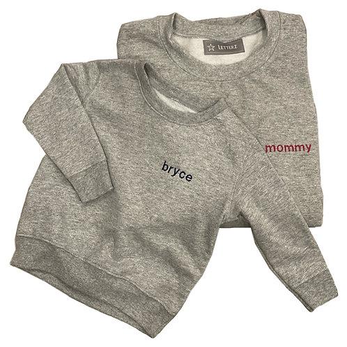 Mommy & Me Sweatshirts: Designed by Rachel Yaghoubzadeh