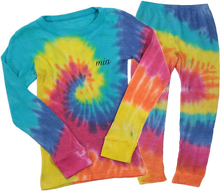 Thermal Tie Dye Pajama Set