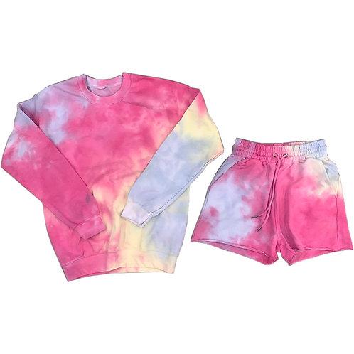 Size S/4 Tie Dye Shorts Set