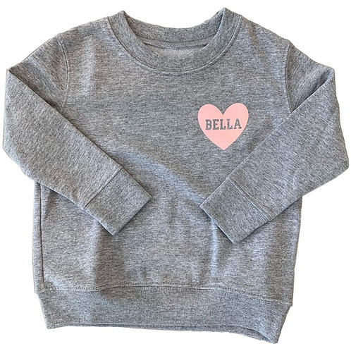 Heart Decal Sweatshirt | Youth